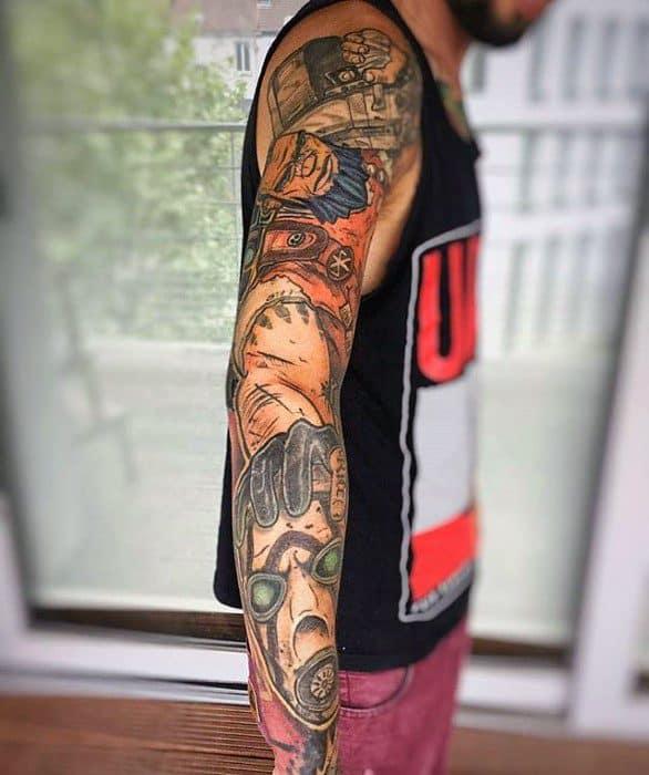 Cool Male Borderlands Tattoo Designs
