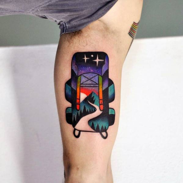 Cool Male Double Exposure Tattoo Designs