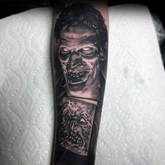 Cool Male Evil Dead Tattoo Designs
