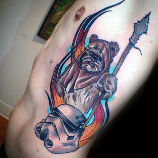 Cool Male Ewok Tattoo Designs