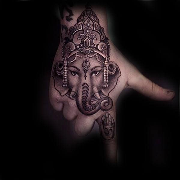 Cool Male Ganesh Hand Tattoo Inspiration
