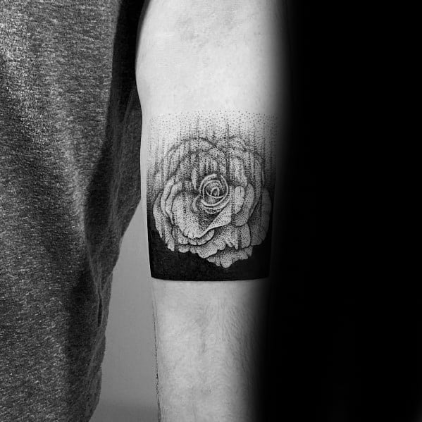 Cool Male Gradient Tattoo Designs