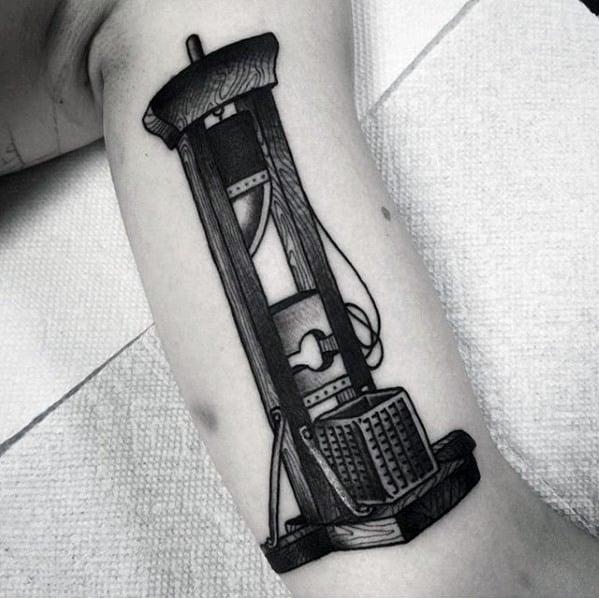 Cool Male Guillotine Tattoo Designs