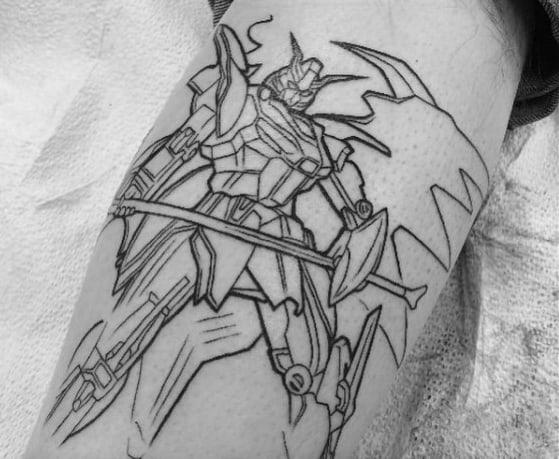 50 Gundam Tattoo Designs For Men