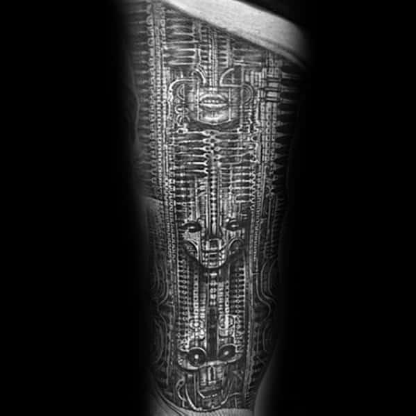 Cool Male Hr Giger Tattoo Designs