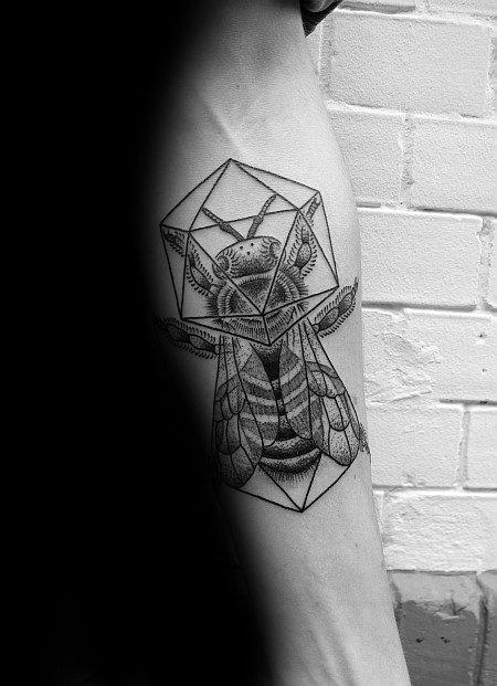 Cool Male Icosahedron Tattoo Designs