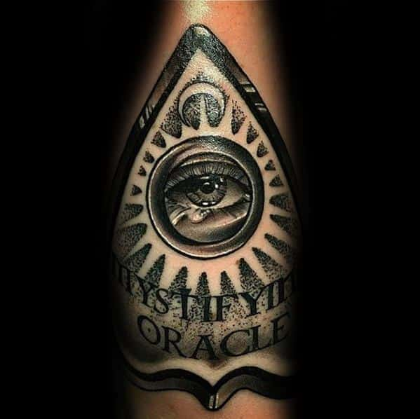 Cool Male Inner Forearm Planchette Tattoo Designs