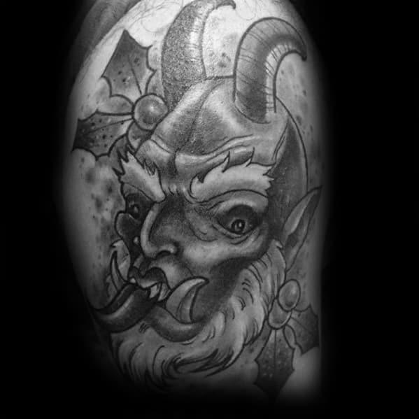 Cool Male Krampus Tattoo Designs
