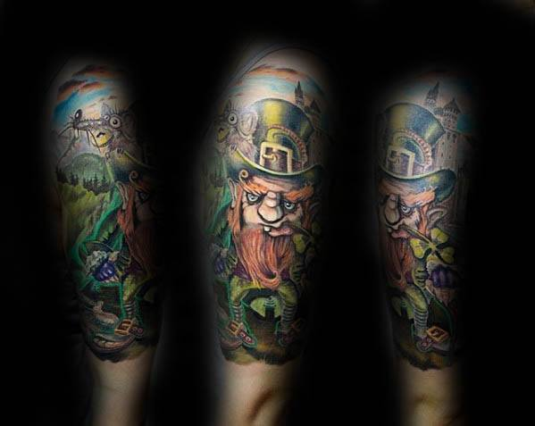 Cool Male Leprechaun Tattoo Designs