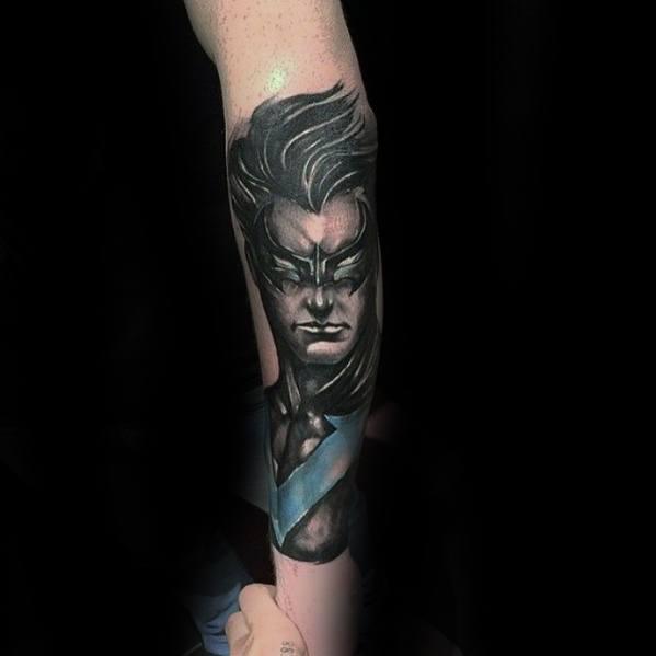 Cool Male Nightwing Tattoo Designs