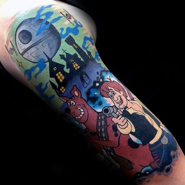 Cool Male Scooby Doo Tattoo Designs