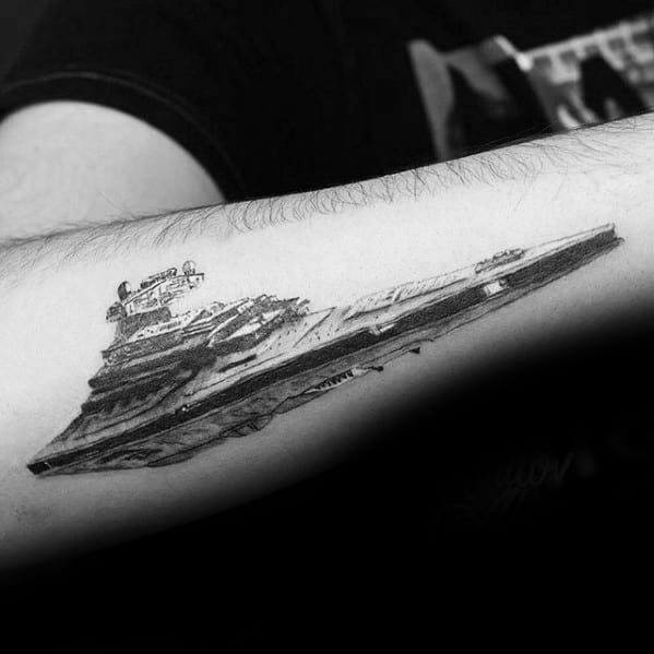 Cool Male Star Destroyer Tattoo Designs