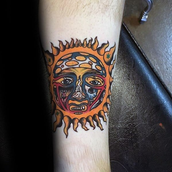 40 Sublime Tattoos For Men Punk Band Design Ideas