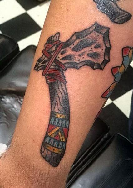 Cool Male Tomahawk Tattoo Ideas