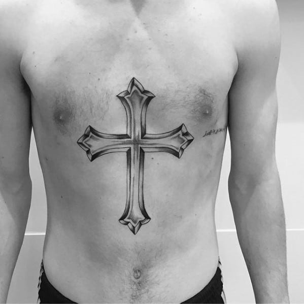 Cool Male Traditional Cross Tattoo Designs