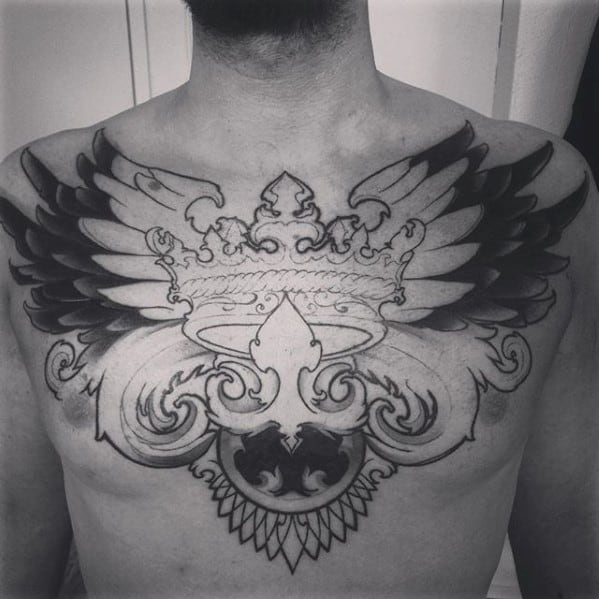 Cool Male Traditional Crown Tattoo Designs