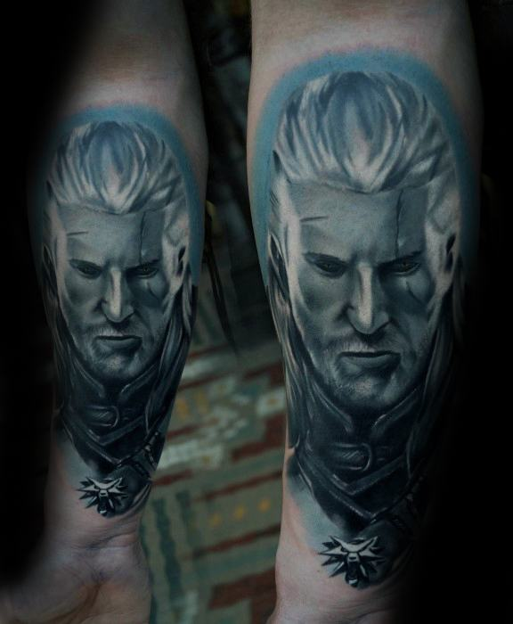 Cool Male Witcher Tattoo Designs