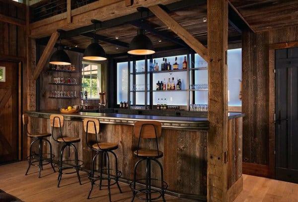 Simple Home Bar Designs Man Cave