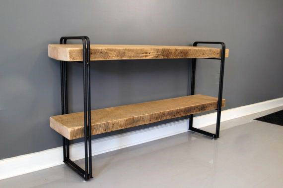 Cool Man Cave Furniture Design Ideas Diy Book Case Made Of Metal Rod And Wood Boards
