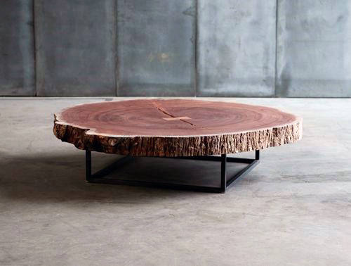 Cool Man Cave Furniture Live Edge Wood Coffe Table Design
