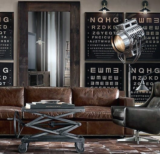 cool man cave furniture. Cool Man Cave Furniture With Leather Couch And Industrial Coffee Table S