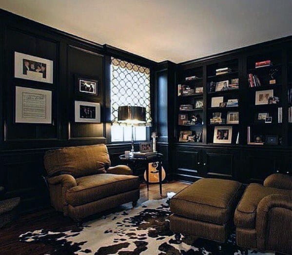 Home Office Library Design Ideas: 60 Cool Man Cave Ideas For Men