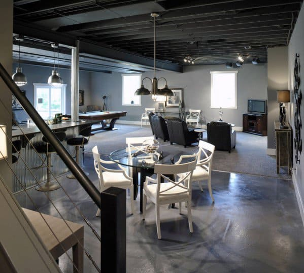 Cool Man Cave Ideas With Concrete Floors