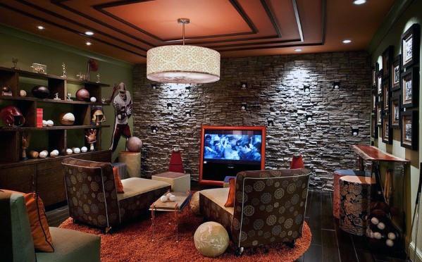 Ispirazione per l'idea di design d'interni della grotta dell'uomo fresco