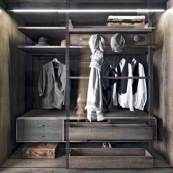 Cool Manly Shelves For Guys Closet