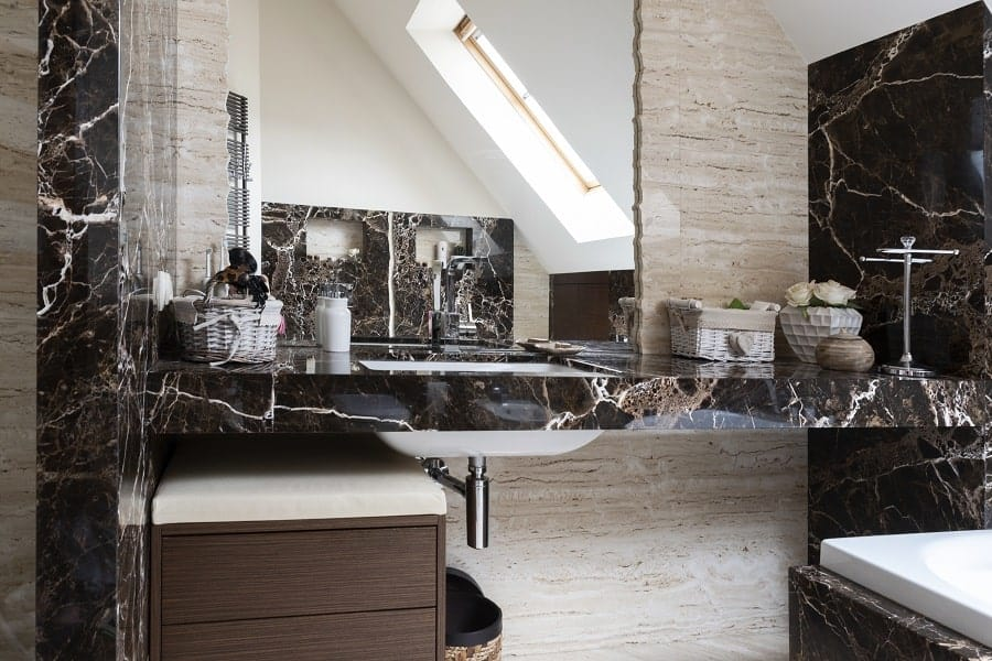 Cool Marble Bathroom Walls Design Ideas