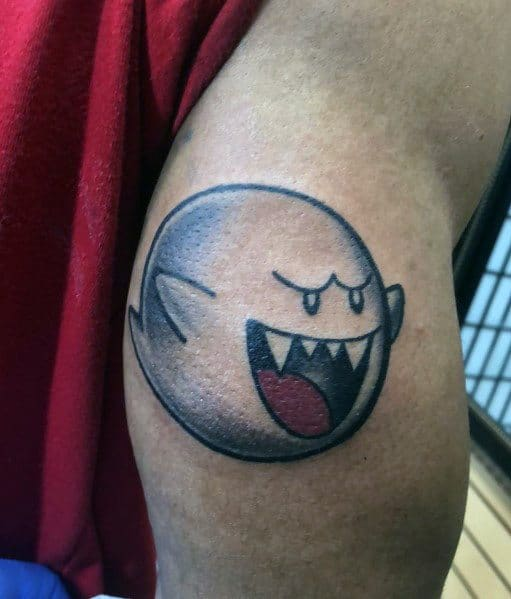 Cool Mario Ghost Tattoos For Men