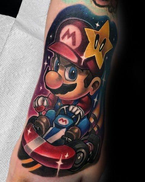 Cool Mario Tattoos For Men