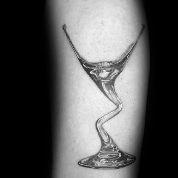 Cool Martini Glass Tattoos For Men