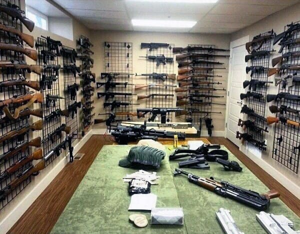 Top 100 best gun room designs armories you ll want to for Walk in gun vault room