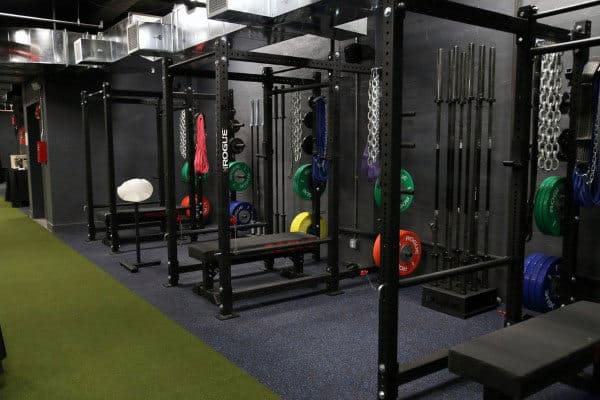 Cool Masculine Personal Gym With Bench Rests