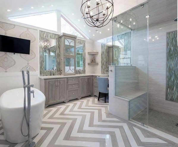 Top 60 best master bathroom ideas home interior designs for Cool master bathrooms