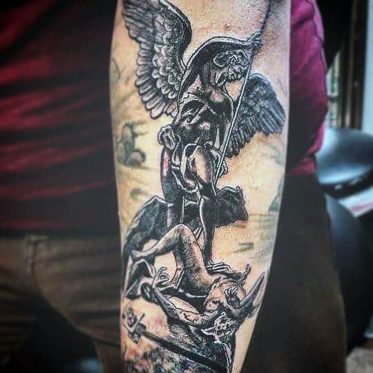 Cool Men's Angel Tattoos