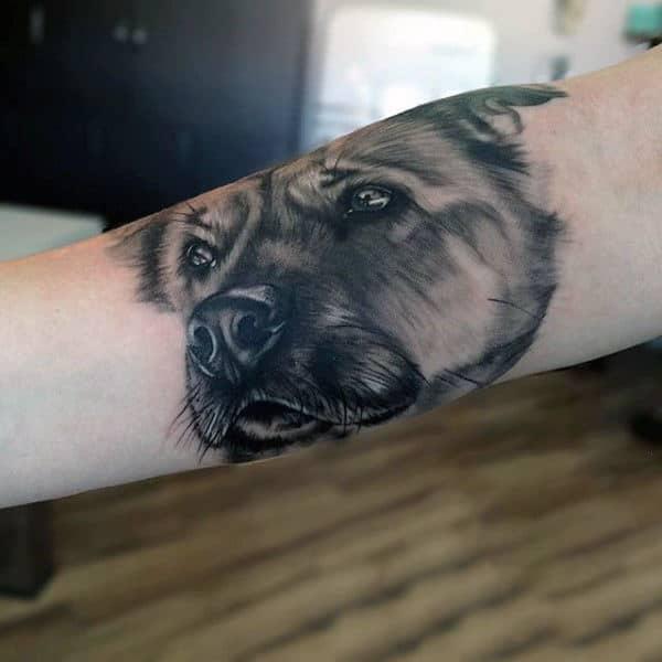 Cool Mens Arm Dog Tattoos