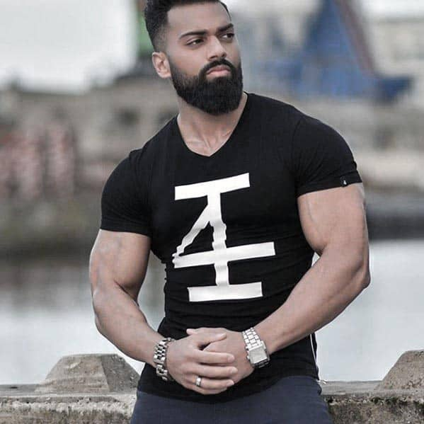 Cool Mens Beard With Short Hair Styles