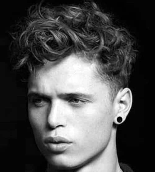 Cool Mens Curly Fade Hairstyles Wavy With Taper