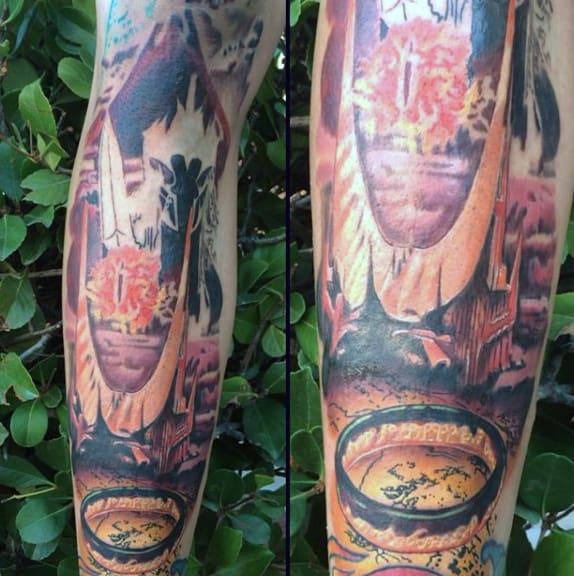 Cool Mens Explosion Shin Tattoo Ideas