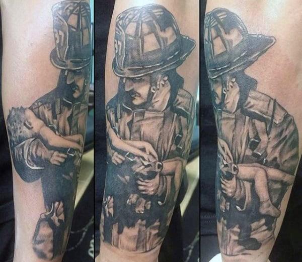 Cool Men's Firefighter Tattoos