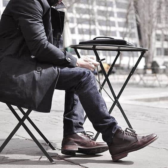 Cool Mens How To Wear Boots Outfits Style Inspiration With Jeans And Black Coat