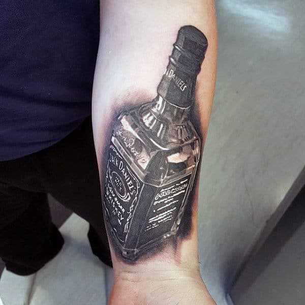 Cool Mens Jack Daniels Wrist Tattoos