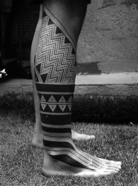 Cool Mens Modern Tribal Geometric Tattoo Ideas