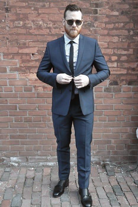 Cool Mens Navy Blue Suit Black Shoes Style Inspiration