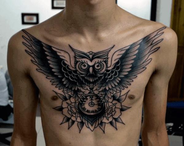 Cool Men's Owl Tattoo Symbolism