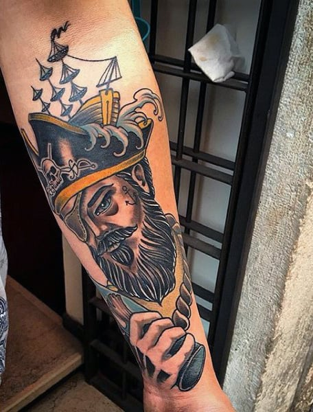 Cool Men's Pirate Tattoos