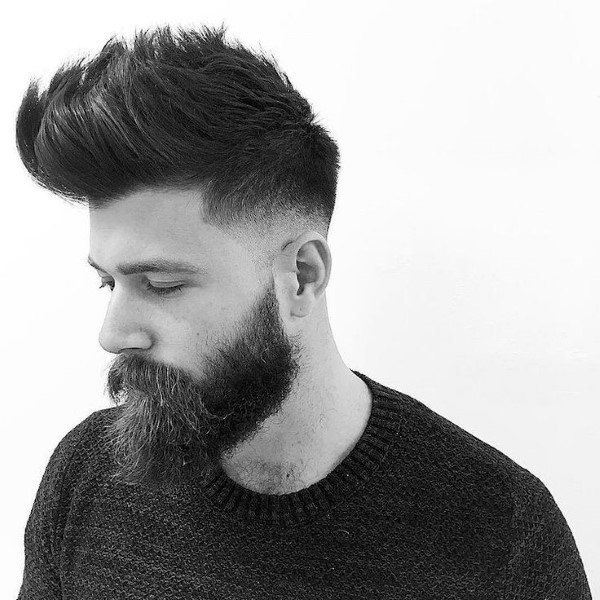 Cool Mens Quiff Haircut For Men With Beards