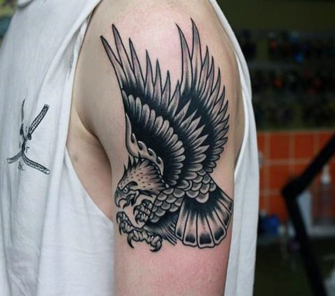 Cool Men's Roman Eagle Tattoo